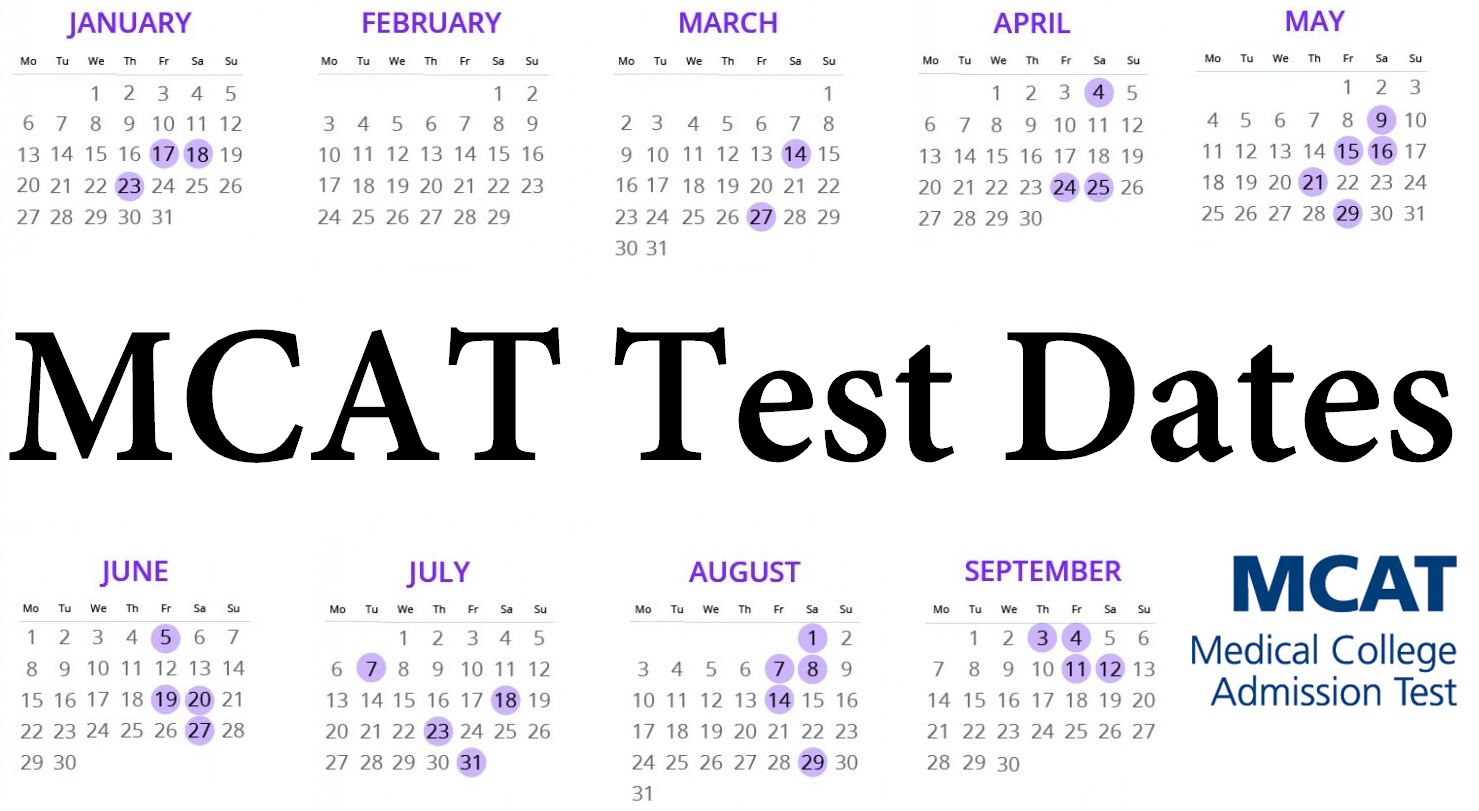 MCAT Test Dates
