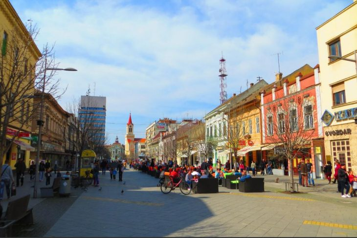 Center of Zrenjanin Serbia