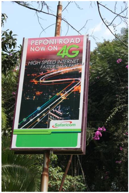 An advertising board on Thigiri Road in Nairobi