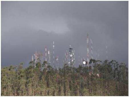 Antenna forest above Sucre
