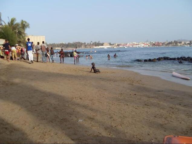 Bathing island Ngor near Dakar