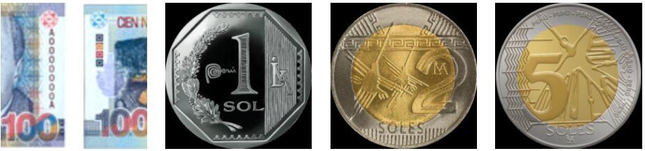 Peru Bills and coins