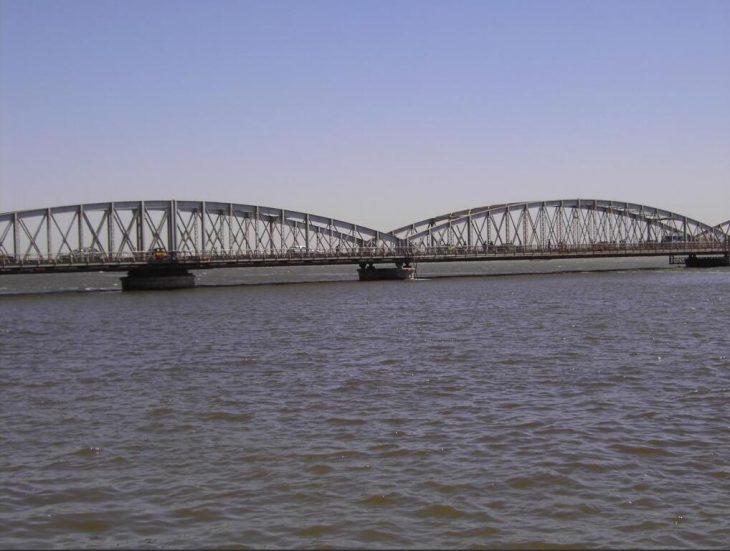 Bridge near St. Louis over the Senegal River