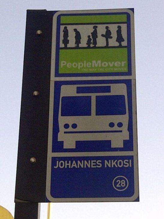 Bus stop in Durban