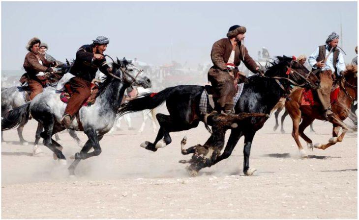 Buzkashi in Mazar-e Sharif,Afghanistan