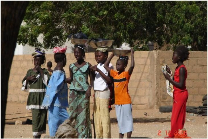 Children sell on the street