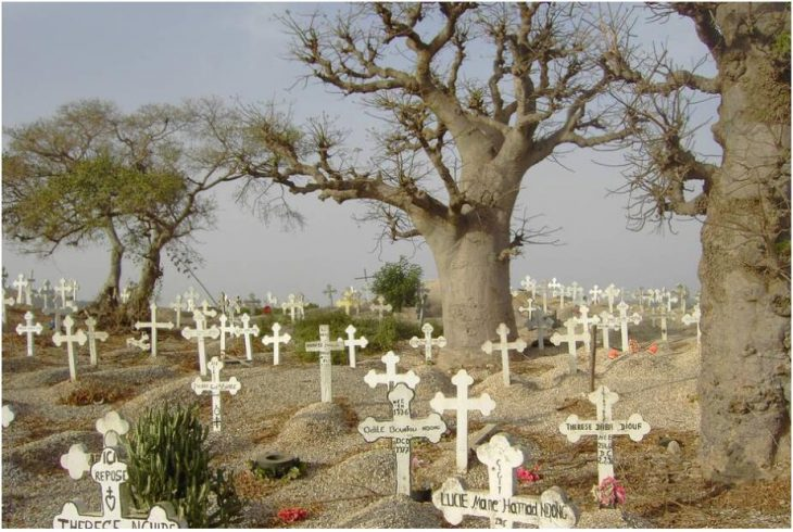 Christians and Muslims are buried together in Fadiouth Cemetery