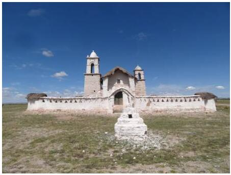 Colonial church on the Altiplano
