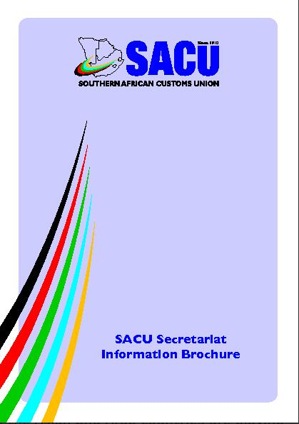 Cover of the SACU information brochure