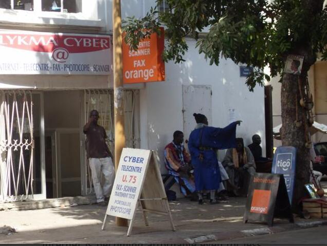 Cyber café in Dakar