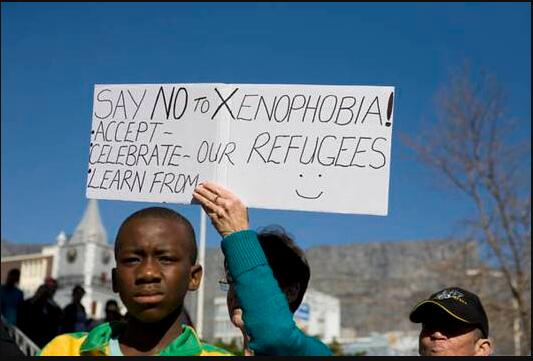 Demonstration against xenophobia