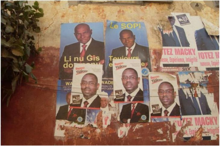 Election posters - the president and his challenger