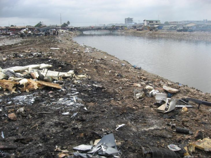 Electronic scrap yard in Agbogbloshie