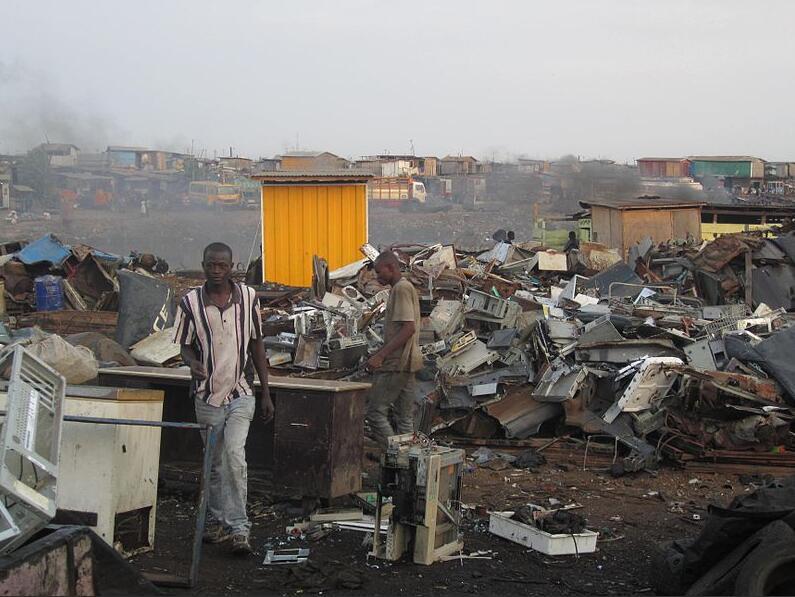 Electronic scrap yard in Agbogbloshie in Accra