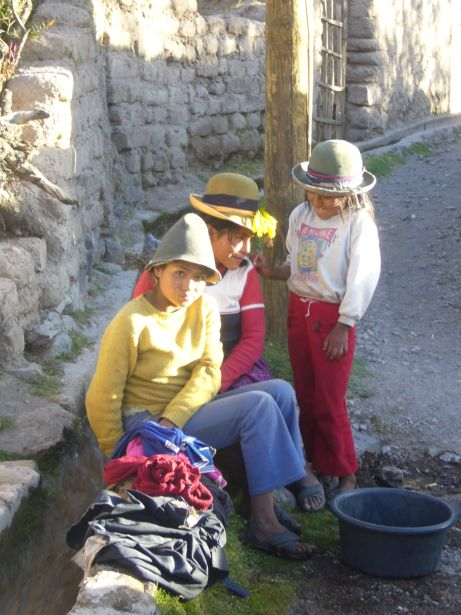Family in the Andean highlands