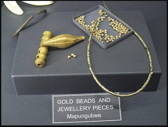 Gold jewelry from Mapungubwe