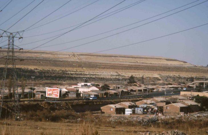 Gold mine waste dump Johannesburg