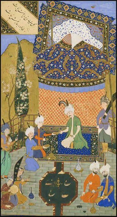 Illustration to Hafez's Diwan, Herat 1523