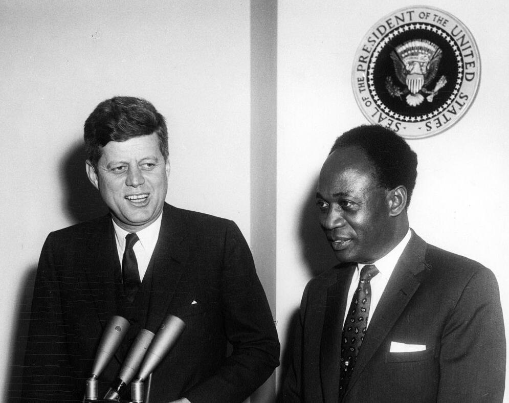 Kwame Nkrumah meets John F. Kennedy