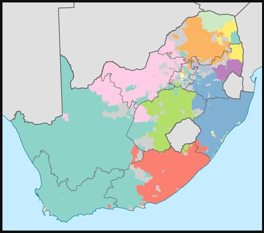Language distribution in South Africa
