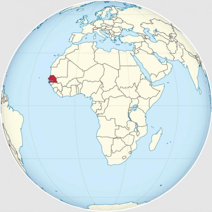 Location of Senegal in West Africa 2