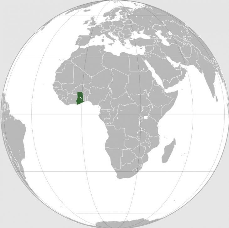 Location of Ghana in West Africa