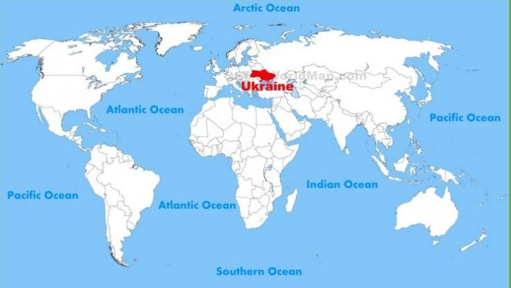 Location of the Ukraine in the world
