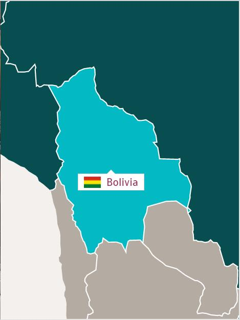 Map of Republic of Bolivia
