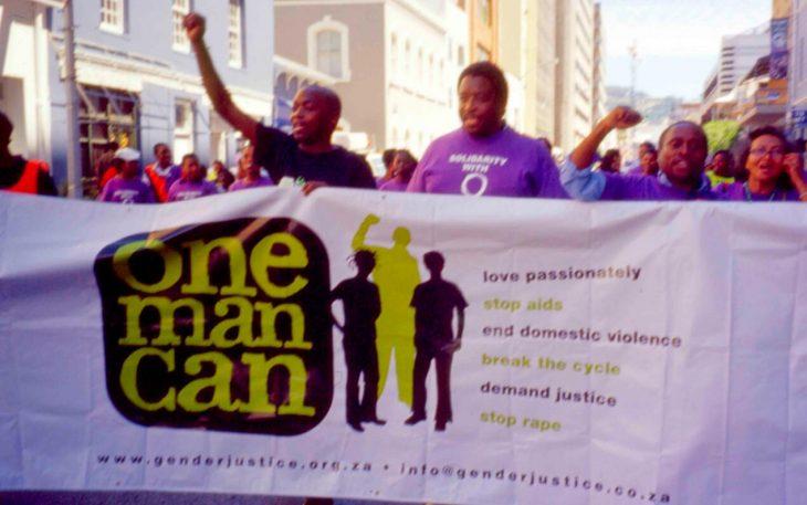 Men protest against violence against women