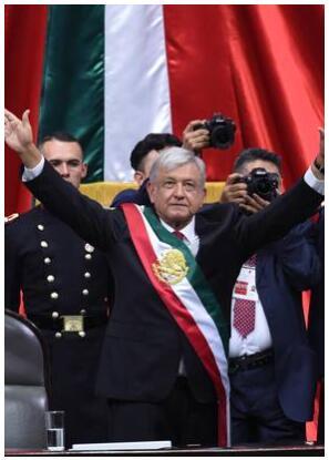Mexico's President Andrés Manuel López Obrador when he took office