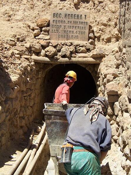 Mine entrance in Potosi
