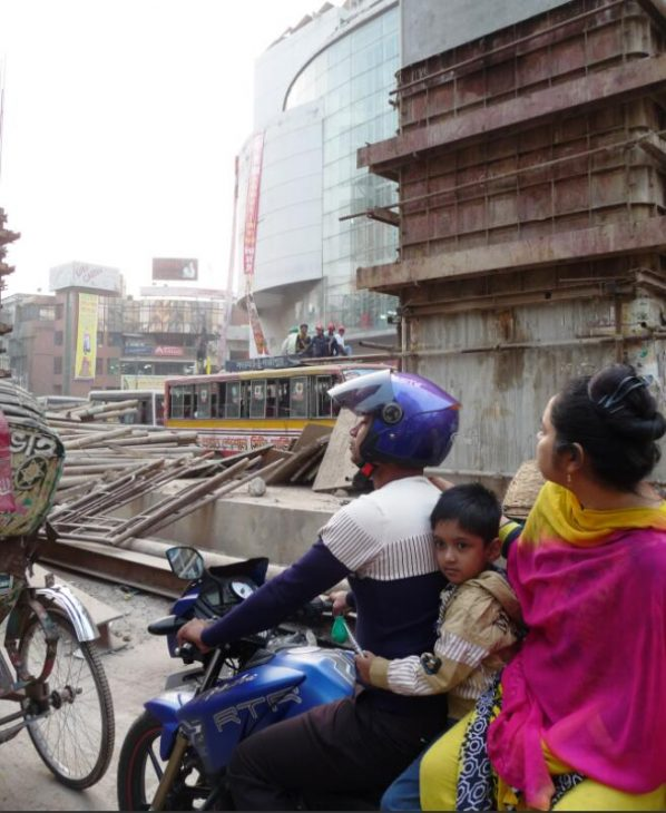 Moving through the dense city traffic can also pose different health risks