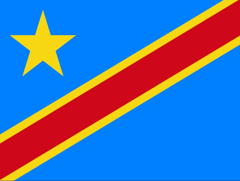 National flag of the Democratic Republic of the Congo