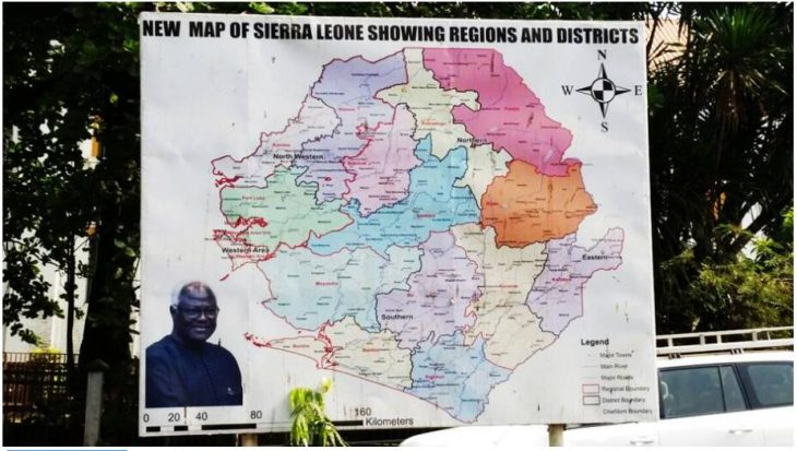 New Map of Sierra Leone