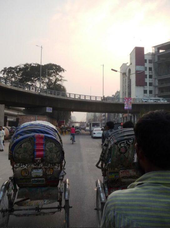New overpass to the Hatirjheel district