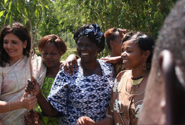 Nobel Peace Prize laureate Wangari Maathai,