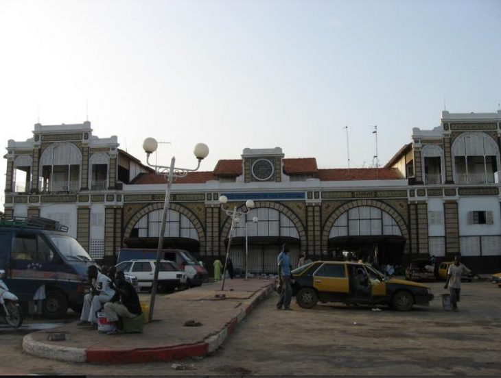 Old Dakar train station in colonial style