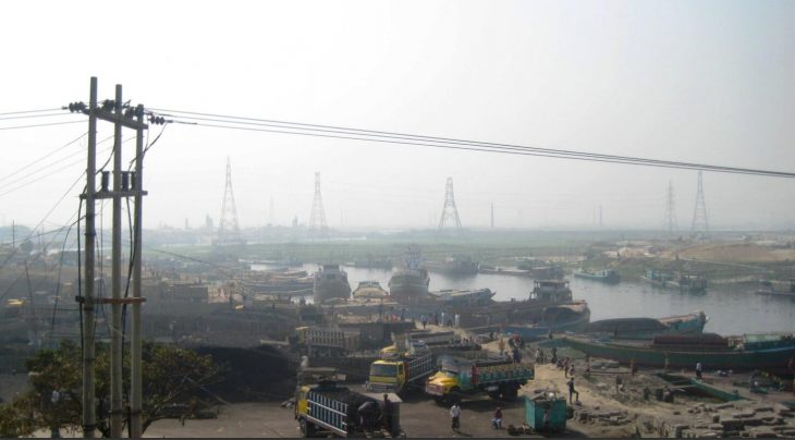 One of the suburbs and transshipment points of Dhaka