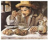 Painting - The Bean Eater by Annibale Caracci
