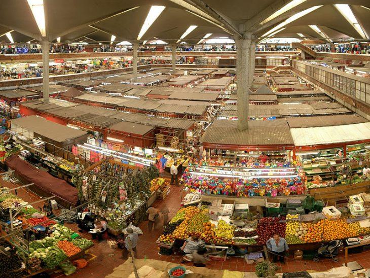 Panoramic photo of the Mercado Libertad