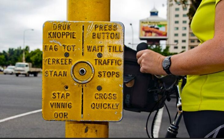Pedestrian traffic light (called Robot in South Africa)