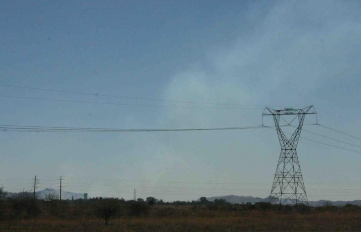Power lines and air pollution
