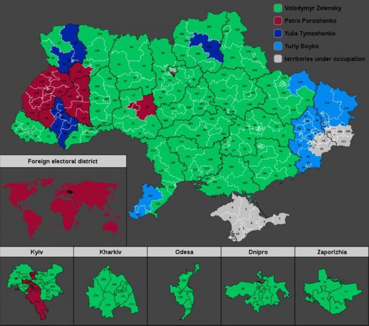 Presidential elections, 1st ballot - Ukraine