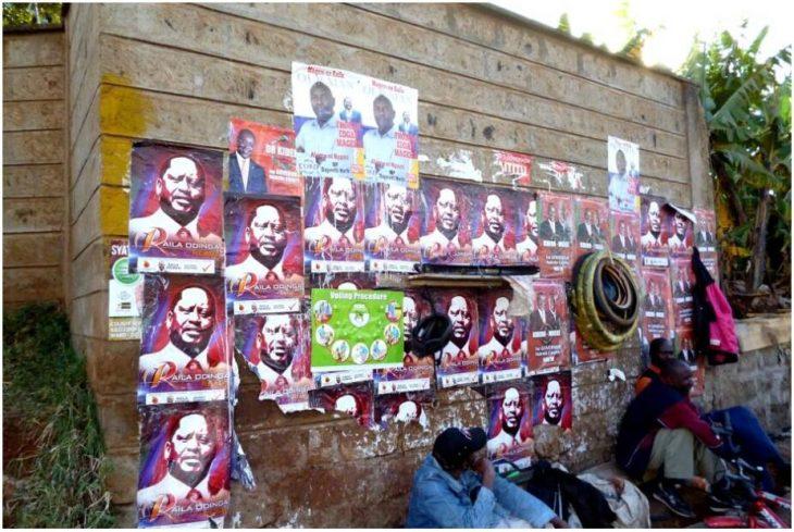 Raila on the left and Uhuru