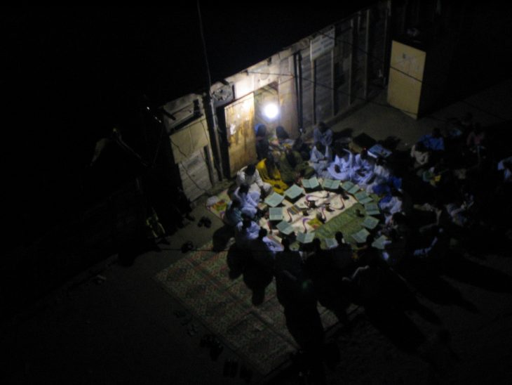 Religious chants of the Mourides at night