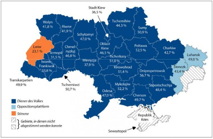 Results of the parliamentary elections by region - Ukraine