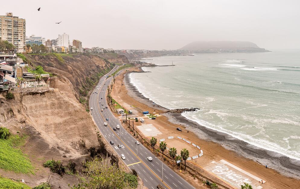 Road on the coast of Lima