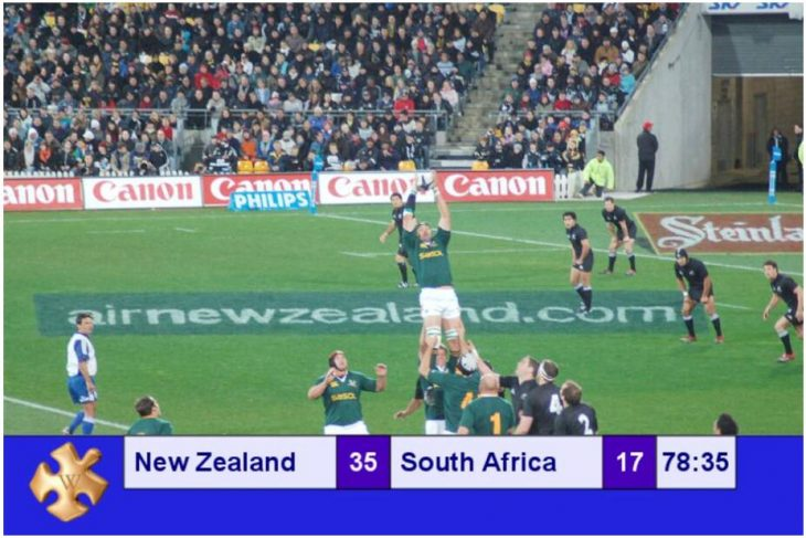 Rugby game - New Zealand versus South Africa