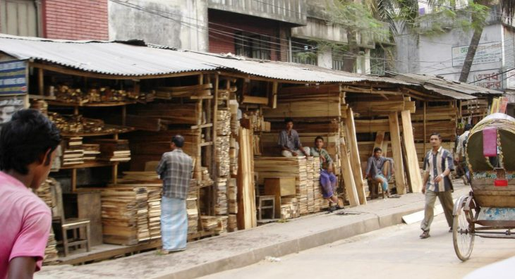 Sales point for wood in Dhaka