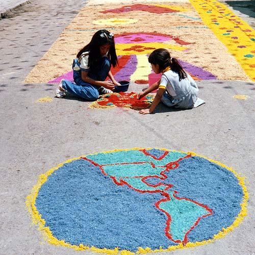 School children in Ixtapaluca